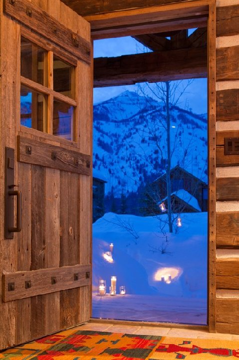 New Shooting Star Cabin Joins The Clear Creek Group S Jackson Hole Heavy Front Door